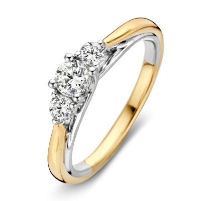 Ring met 3 diamanten 0.51ct